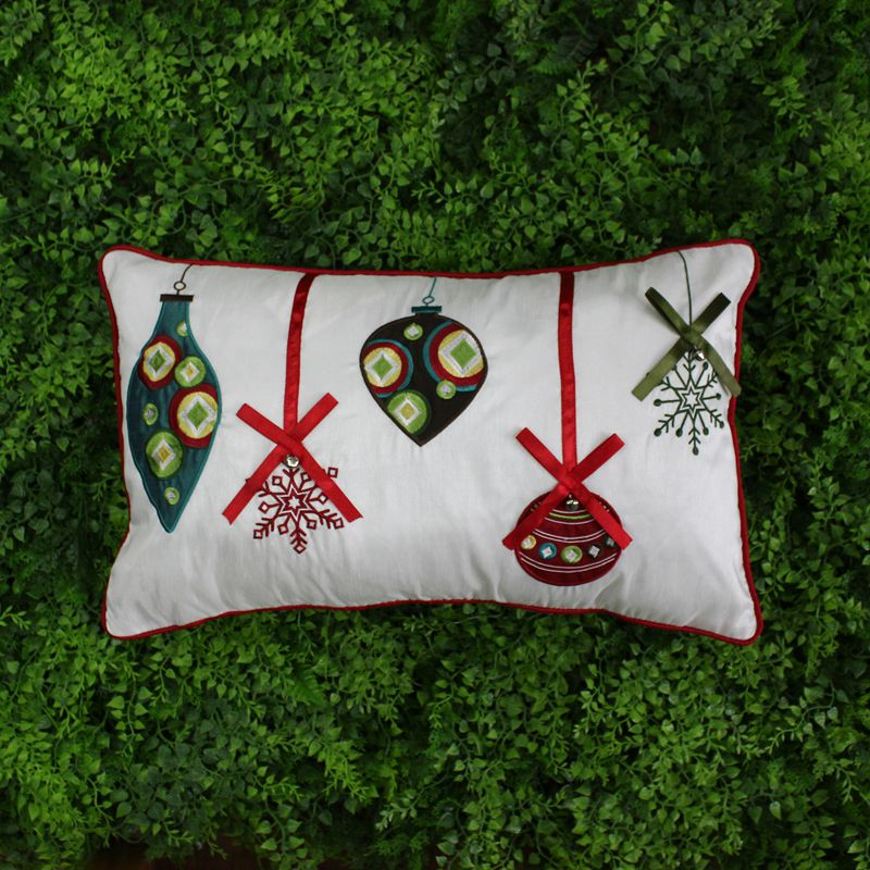 VEZO HOME 50x30cm embroidered christmas ball with ribbon bell sofa christmas home decorative cushions throw pillows pillowcase(China (Mainland))