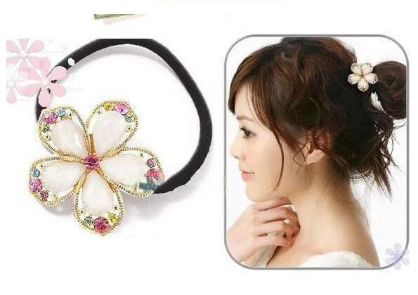 Free Shipping fashion hair accessories for women Cut crystal Phnom penh rhinestone faceted crystal flower hair bands A275(China (Mainland))