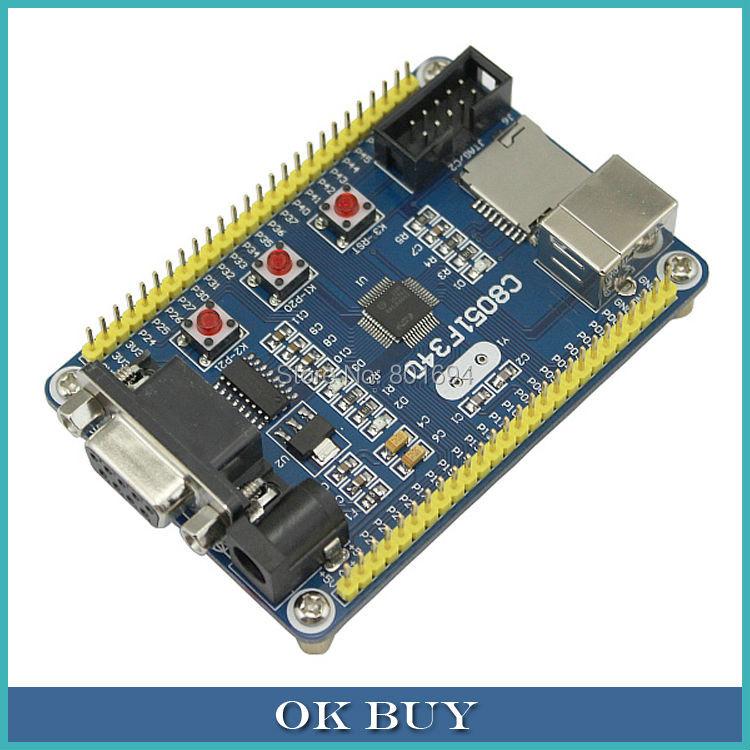 C8051F340 Development Board MicroController C8051F Mini System USB Cable - OK Buy store