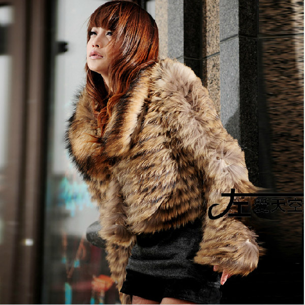 New Arrival 2015 Winter Fashion Genuine Natural Raccoon Fur Coat Women Real Fur Coats Jacket Short Outerwear Overcoat BF-C0092(China (Mainland))