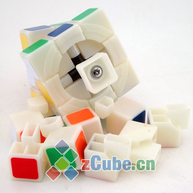 Qj magic cube 3 full 2 ivory primary colors