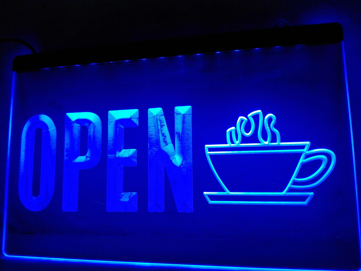 Lk738 Open Coffee Cup Display Led Neon Light Sign Home Decor Crafts In Plaques Signs From Home