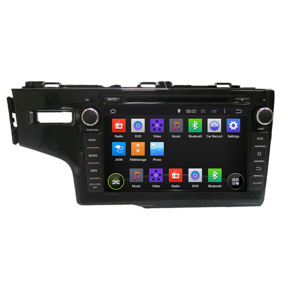 ROM 16G 1024*600 Quad Core Android 5.1.1 Fit HONDA FIT Left or Right Driving 2014 2015 Car DVD Player Navigation GPS Radio 3G(China (Mainland))
