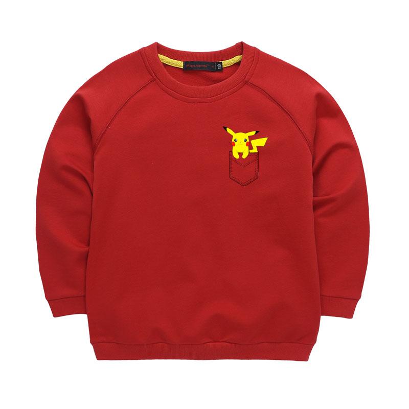 Kids Clothes Pikachu Hoodie Spring Children Girls Boys Sweatshirt font b Pokemon b font Go kids