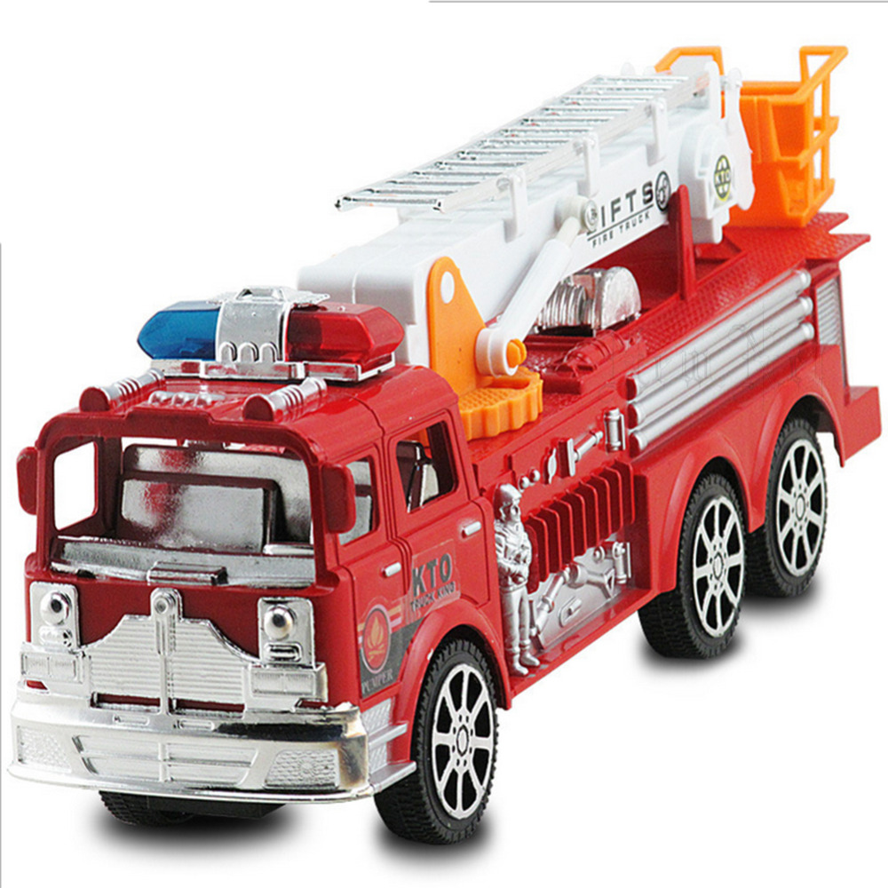 2016 The new children of inertia toy car Large simulation fire truck model toys toy car toy cars Free shipping(China (Mainland))