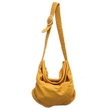 CEZIRA grand doux décontracté femmes sacs fille lavage PU cuir école sac à main dames réglable tissé boucle ceinture messager et sac à bandoulière(China)
