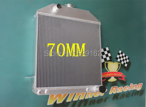 70MM aluminum alloy radiator FOR Ford Deluxe Chevy 350 V8 Swap W 1939 1940 1941(China (Mainland))