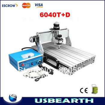 CNC 6040 T+D Router, CNC Engraver 6040T-D Engraving Machine Drilling / Milling Machine