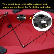 Boat Kayak a Fishing Rod Holder Mount Base Nylon Mount Base Tackle Kit Accessory(China (Mainland))