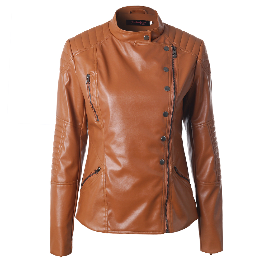 Compare Prices On Womens Dark Brown Leather Jacket- Online Shopping/Buy Low Price Womens Dark ...
