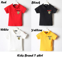 hot Summer Style Kids Brand T Shirt Boys Racing T-shirt Baby Girls Short sleeve 100% Cotton Tops Children Letter Tees For 1-14Y