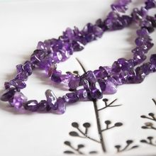 """Buy wholesale 34""""/87cm 4x6mm natural stone purple crystal chips loose beads purple quartz DIY making jewelry craft findings for $4.90 in AliExpress store"""