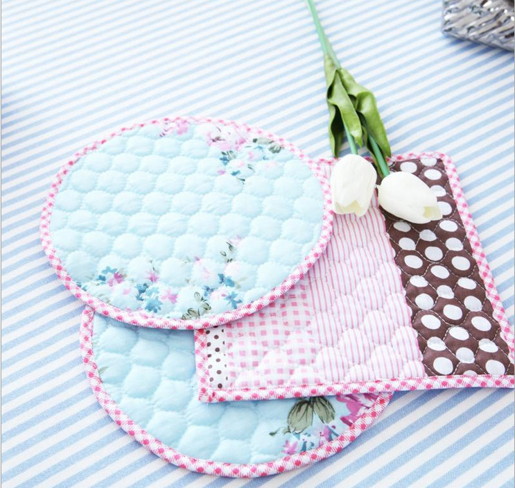 Manteles Individuales Flower Square Round Reversible Coaster Crochet Doilies Placemats Posavasos Kitchen Accessories Table Mat(China (Mainland))