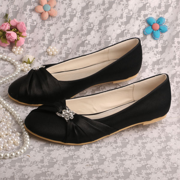 Buy wedopus hot selling women shoes black for Black shoes with wedding dress