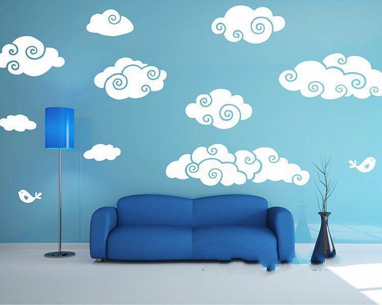 Рисунок на стене облака