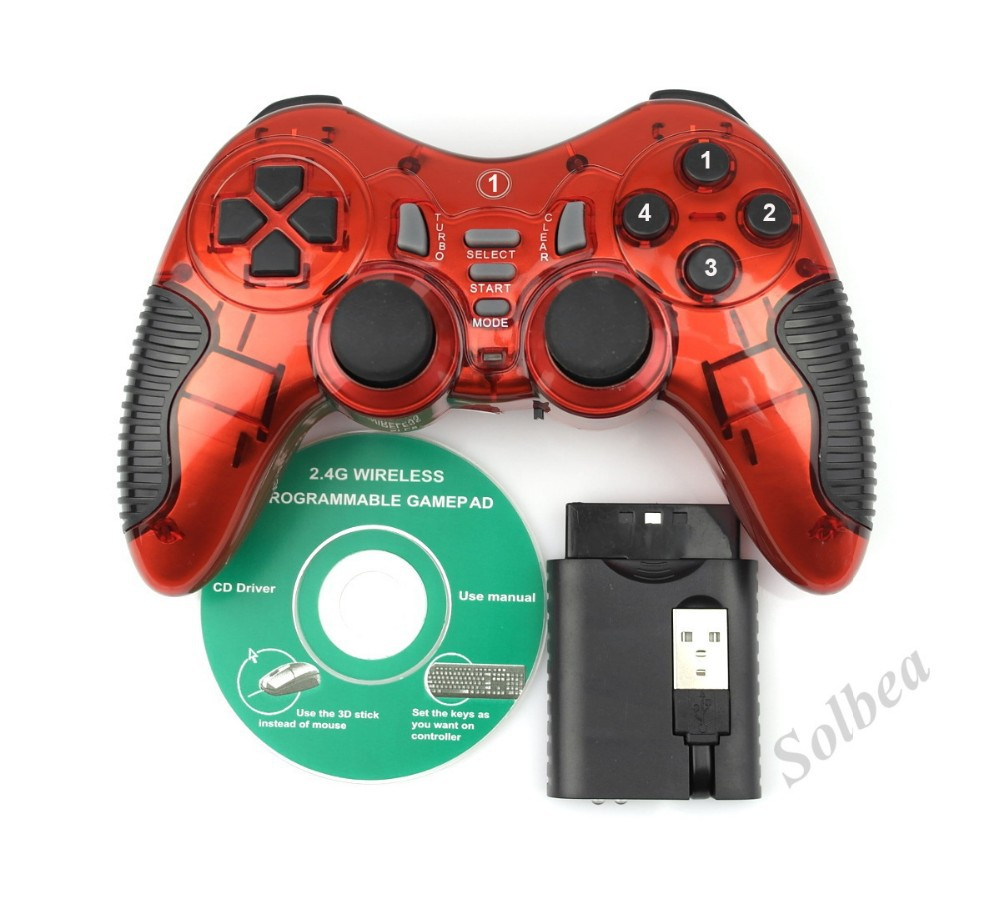 image for 1pc New Wireless 3-in-1 2.4GHz Double Shock Gaming Controller Gamepad