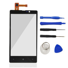 For Nokia Lumia 820 N820 Front Digitizer Glass Display Frame Touch Screen Mobile Phone Touch Panel Accessories Parts Frame Tools
