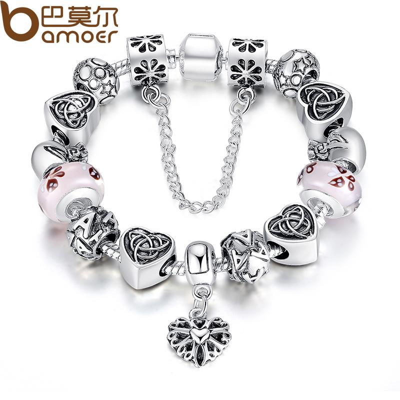 Sell european style charm bracelet for women with heart letter beads