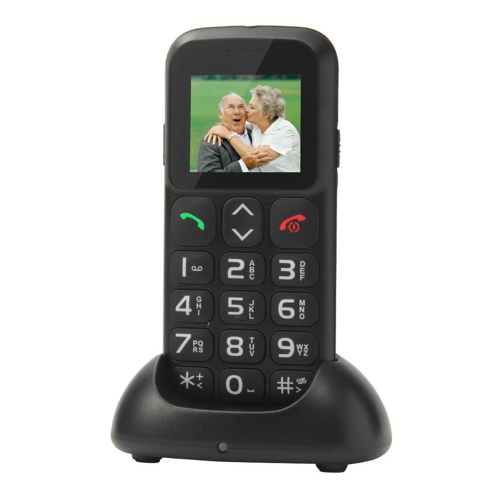 Original New 1.77 UNLOCKED SOS BIG BUTTON IMAGE GSM MOBILE CELL PHONE FOR SENIORS ELDERLY English/French/Spanish/German/Russian(China (Mainland))