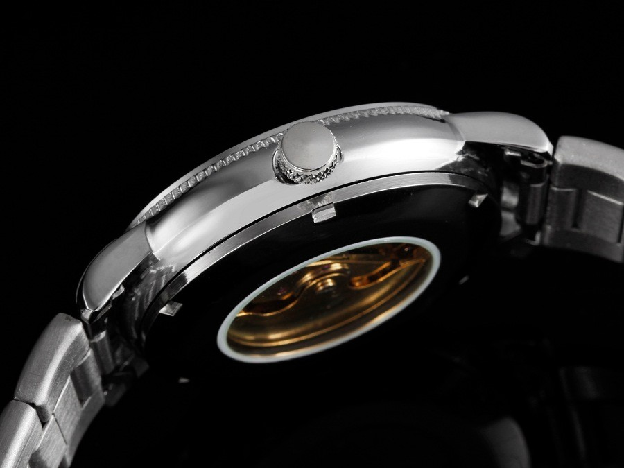 GOER марка мужские часы Механическая автоматическая мужчины наручные часы Водонепроницаемый Световой цифровой Скелет Стали Отдых спорт