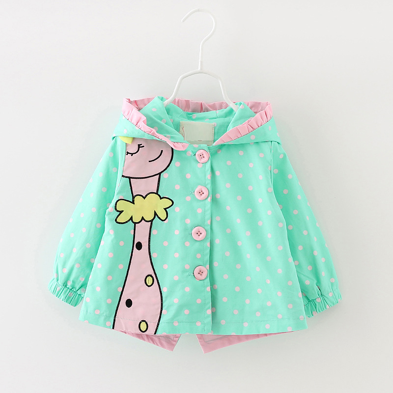 2016 Spring New Baby Girls Clothes Toddler Trench Coats Cotton Hooded Cute Jackets For Girls Baby
