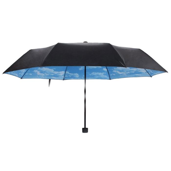 Фантастический многофункциональный анти-уф защита от солнца зонтик голубое небо белое облако 3 складной подарок солнечный дождливый зонты для женщин