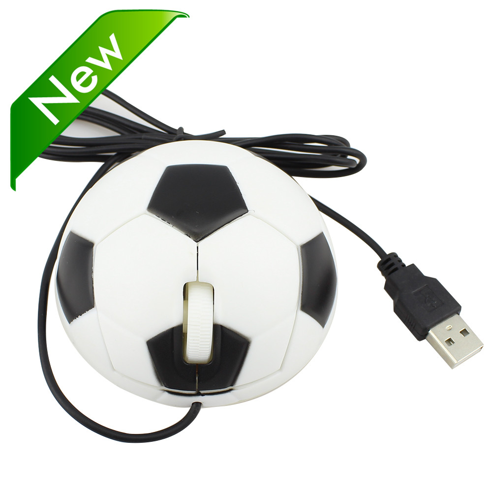 2016 Creative Football Soccer Shape Wired Mouse USB 2.0 Pro Mause Optical Cable Mice For Computer PC High Quality(China (Mainland))