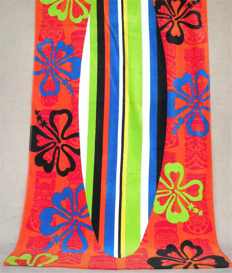 100% Cotton reactive printing color surfing board Beach Towel 87*160cm Bath Towel Decor Printed Bath Towel Summer Style(China (Mainland))
