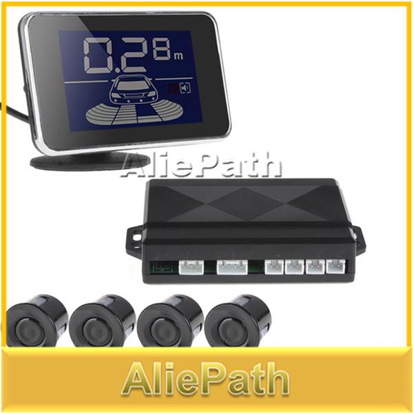 5 pcs Sale LED Display Waterproof 4 x car parking sensor kit reverse backup radar system with buzzer(China (Mainland))