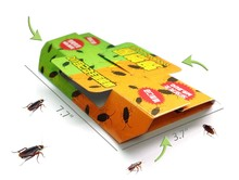 10 Sets Free Ship, Super Sticky Glue Trap for Cockroaches Spiders Ants Reject Control Repeller killer,One Bait Include Non-toxic(China (Mainland))