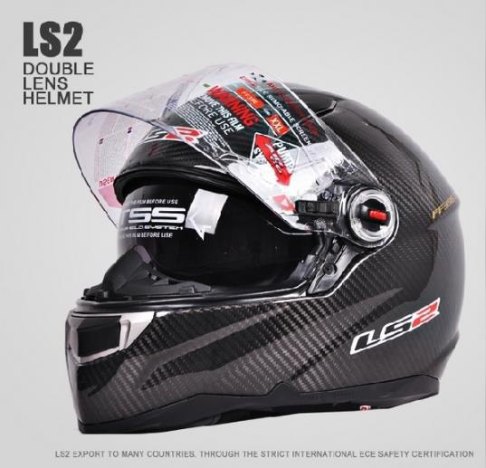 free shipping cascos capacetes LS2 FF396 CT2 motorcycle helmet full face carbon fiber helmet dual lens with airbag pump(China (Mainland))