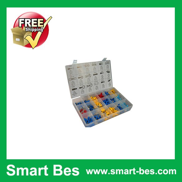 Free Shipping~ Smart Bes 360pcs Red Copper Terminal Assortment/Kit/Set Electrical Equipment TC-3057 brass terminal(China (Mainland))