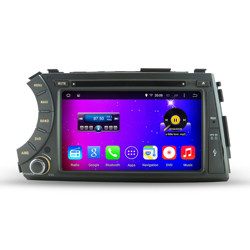 """Free Shipping 7"""" HD Capacitive Screen 1024*600 Pixels Quad Core Android 4.4.4 Car DVD For Ssangyong Kyron Actyon 3G WiFi OBD DVR(China (Mainland))"""