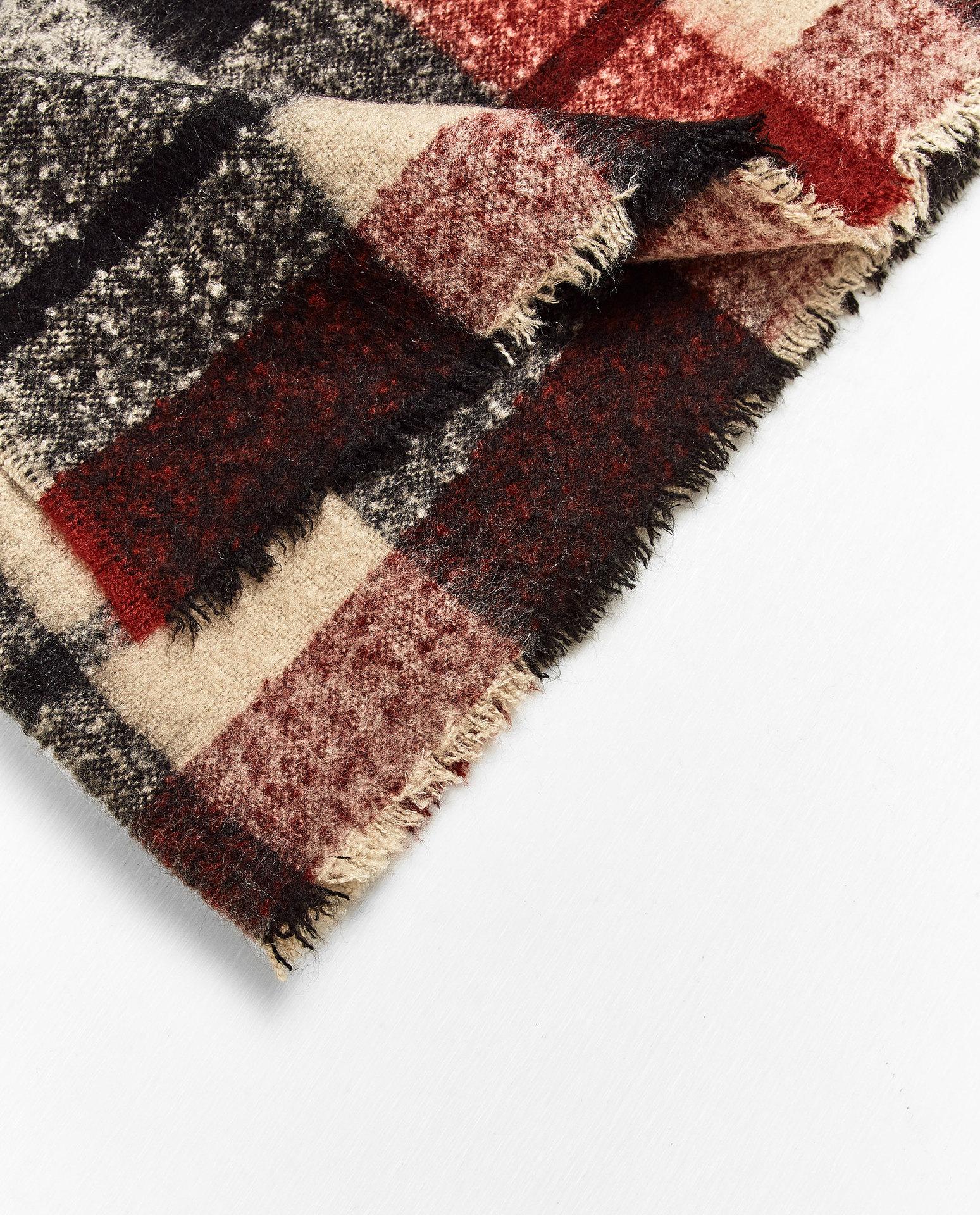 2016 New Winter Fashion Ladies Wind Comfort Stripe Ornament All-match Warm Furry Scarf
