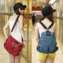 2016 Fashion new Korean female bag multifunctional sport canvas travle portable Crossbody School Bag backpacks BAG5029(China (Mainland))