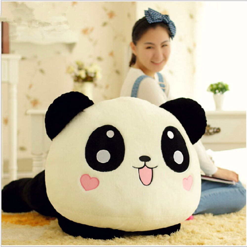 45cm Giant Panda Pillow Mini Plush Toys Stuffed Animal Toy Doll Pillow Plush Bolster Pillow Doll Valentine's Day Gift Kids Gift(China (Mainland))