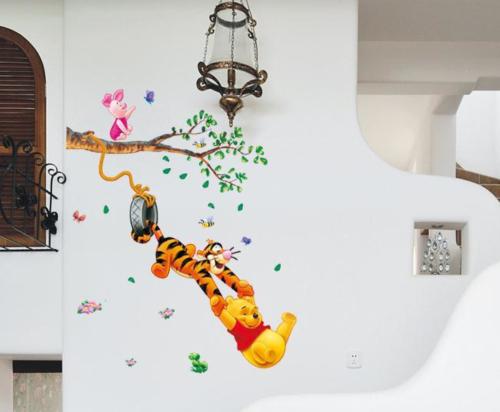 Winnie The Pooh Wall Stickers Nursery Boy kids baby Room Vinyl Art Decal Decor(China (Mainland))