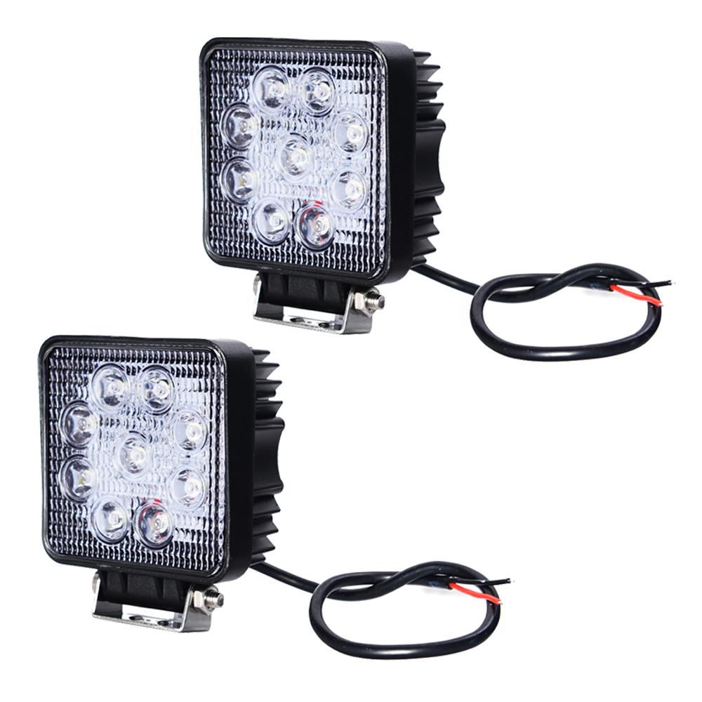 New Hotsale Best Price In Aliexpress promotion 2Pcs 27W Flood Beam LED Work Lamp Light 12V 24V 4x4 Camping(China (Mainland))