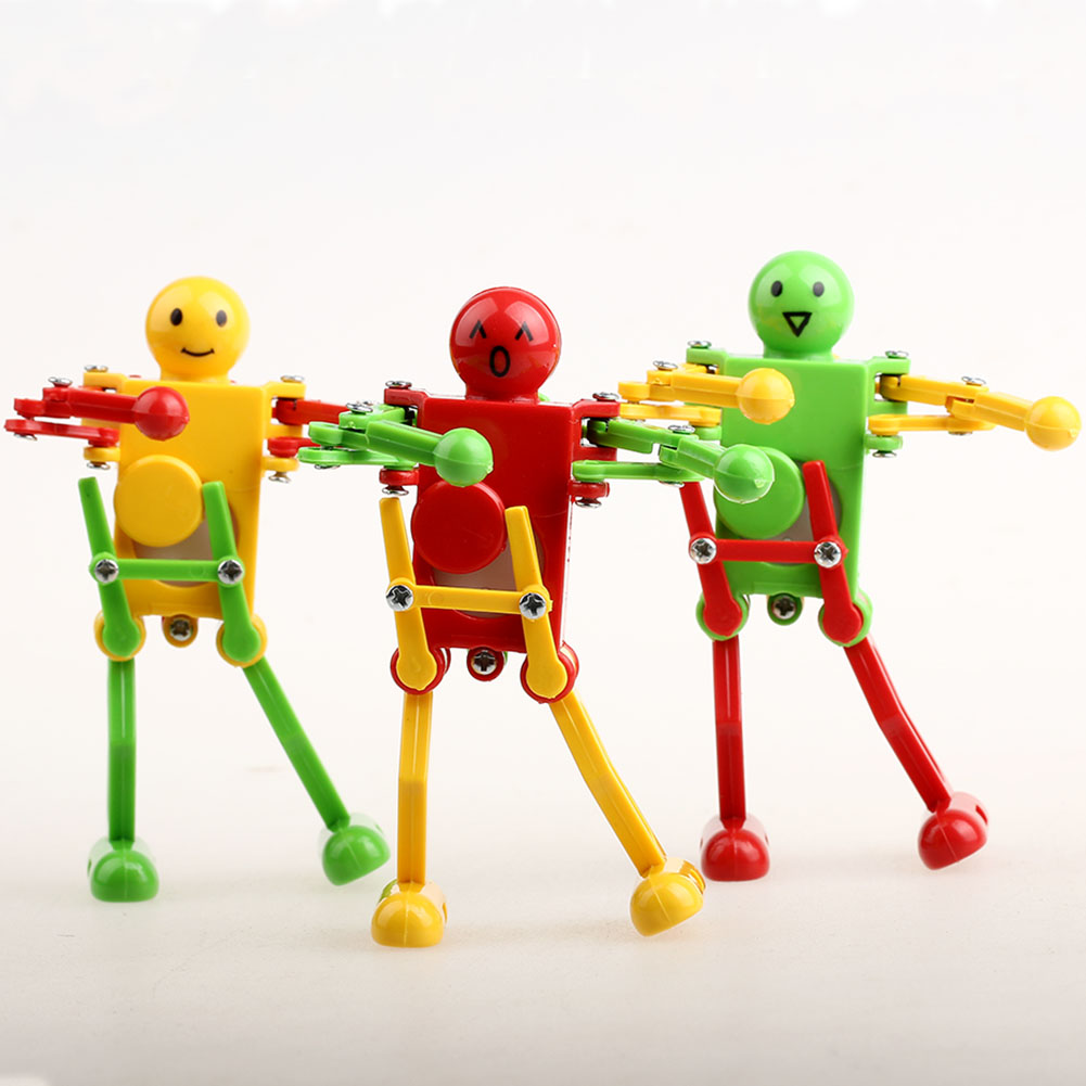 Toys For Spring : Colors yellow green red clockwork spring wind up dancing