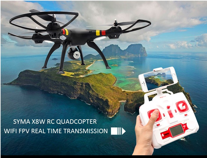 SYMA X8C X8 upade version x8w 2.4G 4CH 6Axis Professional RC Drone Quadcopter With WiFi FPV HD Camera R/C Helicopter(China (Mainland))