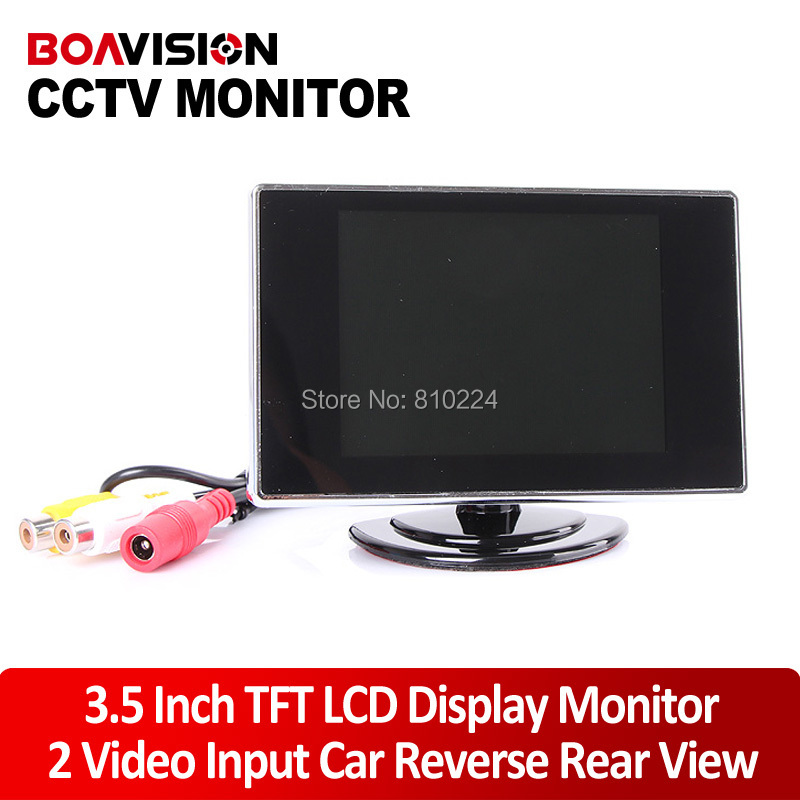 Mini 3.5 Inch TFT LCD Color CCTV Camera Monitor Or Rearview Rear View Color Monitor(China (Mainland))