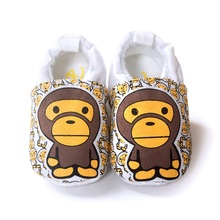 60pairs/lot Monkey Baby Boy Moccasin Shoes