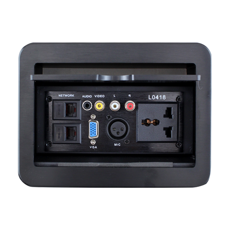 New LD-0418 slide multimedia desktop socket conference table Lennon VGA card is inserted audio and video information<br><br>Aliexpress