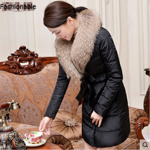 Free shipping !!! The new winter 2016 luxury raccoon heavy hair get upset down jacket lady long big yards in the coat / S-3XL