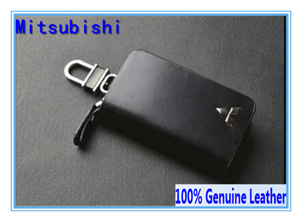 100% Genuine Leather Car Key Chain Ring for Mitsubishi All Vehicle Model Free Shipping(China (Mainland))