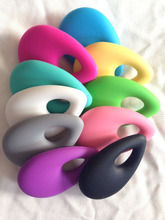 NEW 5PCS/LOT Water Drop Teething Necklace Jewelry Pendant - Organic BPA Free Silicone Teether Pendant Toys for Nursing Moms(China (Mainland))