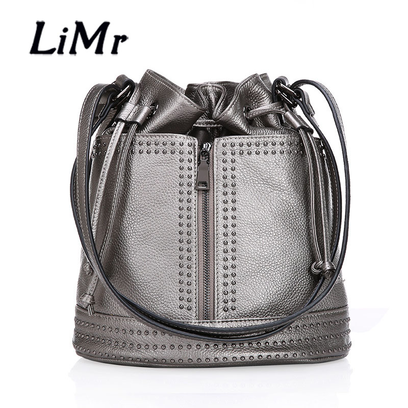 LiMr Backpacks Brand Fashion Genuine Leather Shoulder Bags European and American Women Alligator Cowhide Leather Back Pack Bags