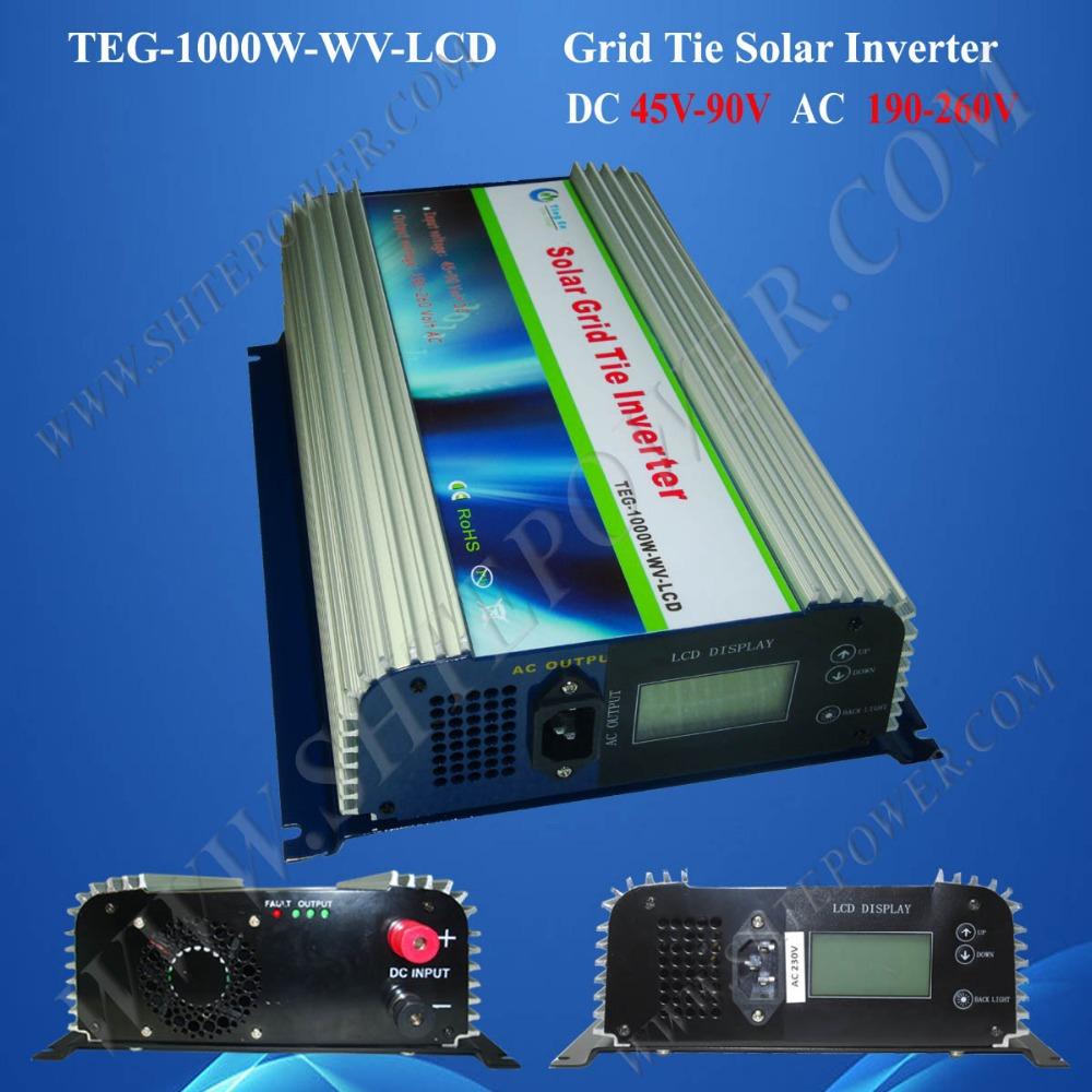 Free shipping inverter DC AC inverter power inverter DC45-90v,1000w solar power grid tie inverter(China (Mainland))