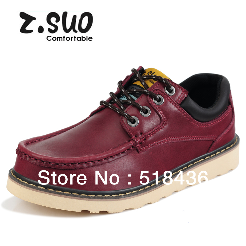 2014 New Fashion Breathable leather Mens Oxfords Shoes Casual Bullock Style Flats Men - Sammy outdoor sports store