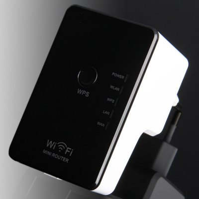 Mini 300Mbps Wireless Router Repeater WiFi Signal Extender for Home Office ( AC 100 - 240V )(China (Mainland))